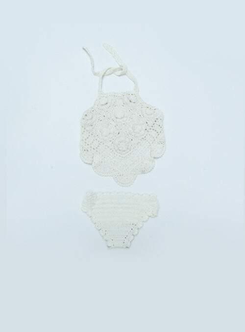 Biquini Crochet Branco
