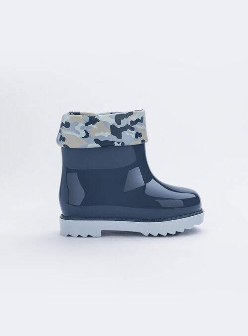 Mini Melissa Rain Boot + Rose & Bleu Bb (Azul / Azul)