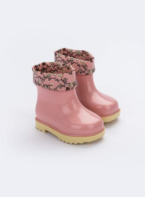 Mini Melissa Rain Boot + Rose & Bleu Bb (Rosa / Amarela)